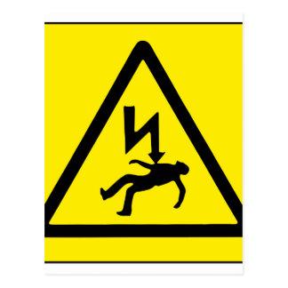 Danger Electricity Postcard