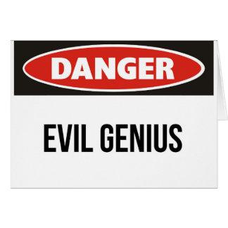 Danger - Evil Genius Greeting Card
