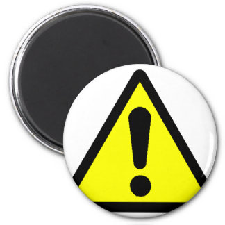 Danger! (Exclamation mark) 2 Inch Round Magnet