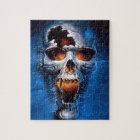 Danger Fire Skull Image Jigsaw Puzzle