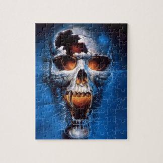 Danger Fire Skull Image Jigsaw Puzzle