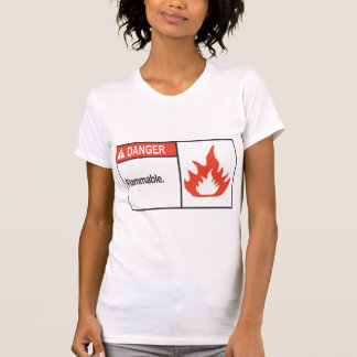 Danger Flammable Sign Womens T-Shirt