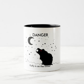 DANGER, Fluffy is on the loose! - mug