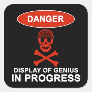 Danger Genius Square Sticker