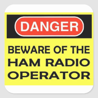 DANGER HAM RADIO STICKER