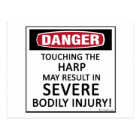Danger Harp Postcard