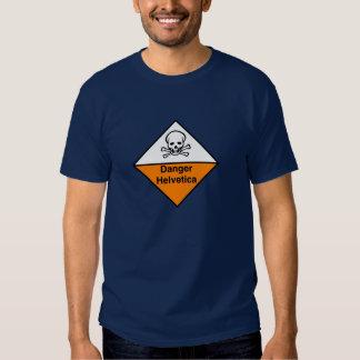 Danger helvetica t shirts
