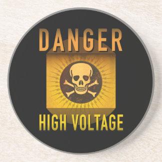 Danger High Voltage Retro Atomic Age Grunge : Coaster