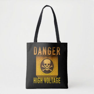 Danger High Voltage Retro Atomic Age Grunge : Tote Bag