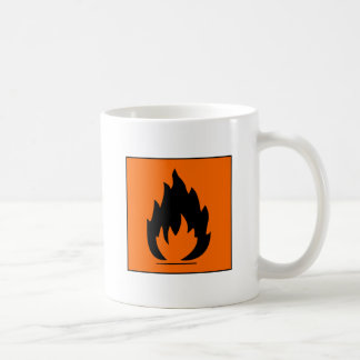 Danger Highly Flammable Warning Sign Chemical Burn Mug