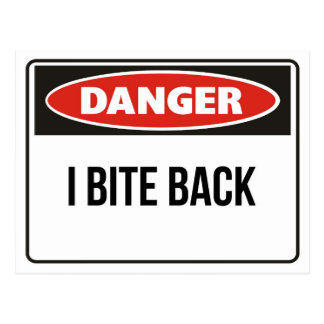 Danger - I Bite Back Postcard