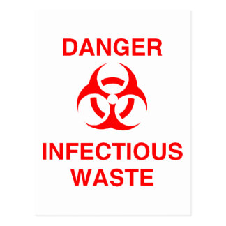 Danger Infectious Waste Postcard