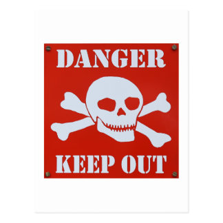 Danger Keep Out Postcard