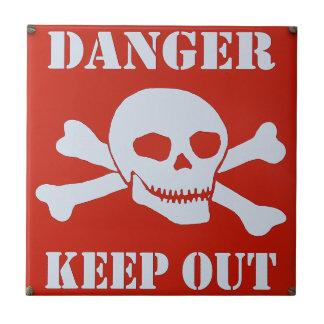 Danger Keep Out Tile