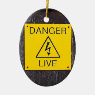 Danger Live Ceramic Ornament