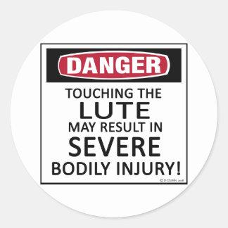 Danger Lute Round Sticker