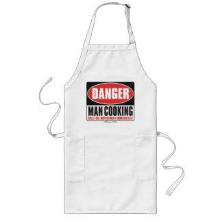 Danger! Man Cooking Apron