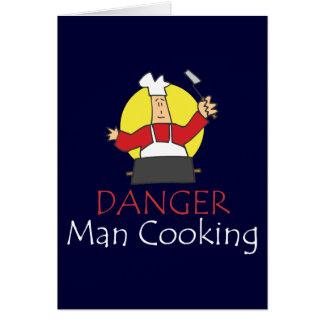 Danger Man Cooking Card
