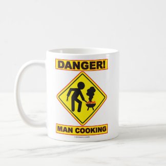 DANGER! MAN COOKING mug