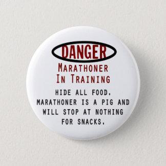 Danger Marathoner 2 Inch Round Button