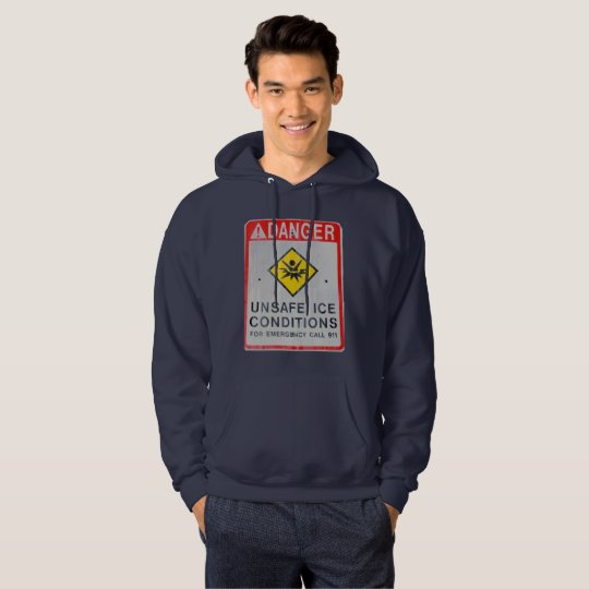 Danger Men's Basic Hooded Sweatshirt