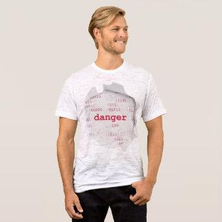 danger Men's Canvas Fitted Burnout T-Shirt