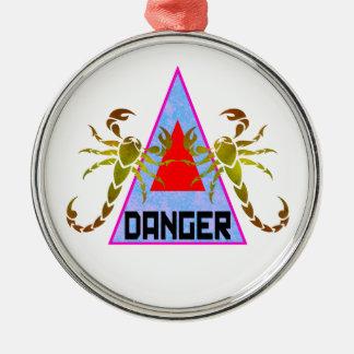 Danger Metal Ornament