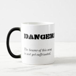 """Danger!"" Morphing Coffee Mug"