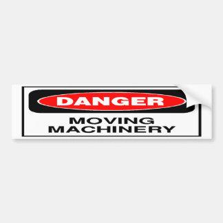 Danger Moving Machinery Bumper Sticker