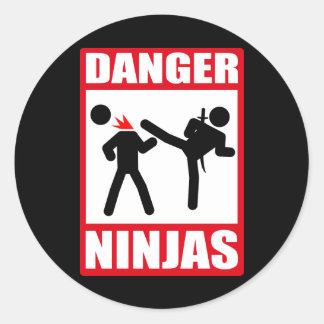 Danger Ninjas Autocollant Rond