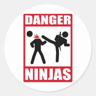 Danger Ninjas Autocollants Ronds