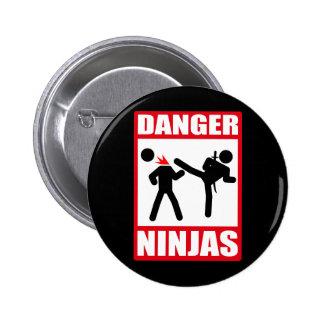 Danger Ninjas Badges Avec Agrafe