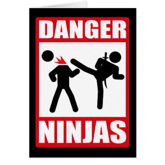 Danger Ninjas Carte De Vœux