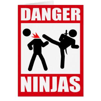 Danger Ninjas Cartes De Vœux
