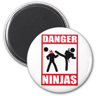 Danger Ninjas Magnet Rond 8 Cm