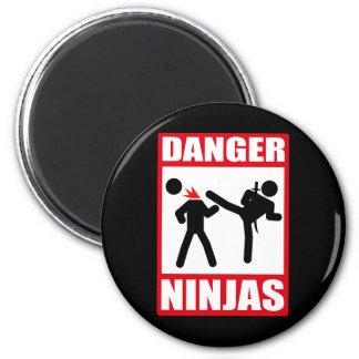 Danger Ninjas Magnets Pour Réfrigérateur