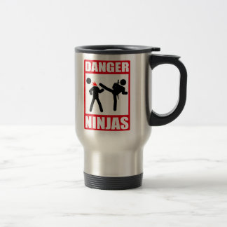 Danger Ninjas Mug De Voyage En Acier Inoxydable