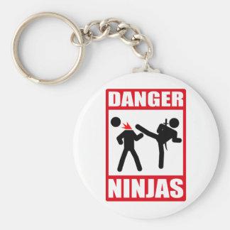 Danger Ninjas Porte-clé Rond