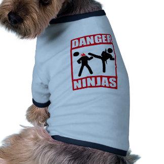 Danger Ninjas T-shirts Pour Chien