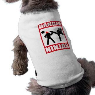 Danger Ninjas Tee-shirt Pour Animal Domestique
