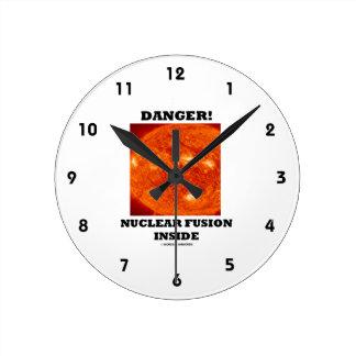 Danger! Nuclear Fusion Inside Sun's Surface Wallclocks