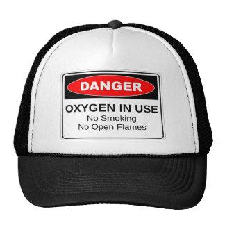 Danger Oxygen In Use Trucker Hat