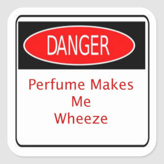 Danger Perfume Makes Me Wheeze Sticker