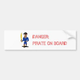 Danger: Pirate on Board Bumper Sticker