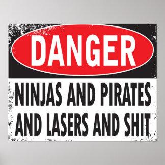DANGER! Poster (small)