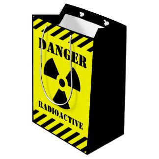 Danger Radioactive Symbol Halloween Trick-or-Treat Medium Gift Bag