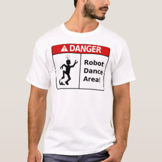DANGER Robot Dance Area! (Men's T-Shirt) T-Shirt