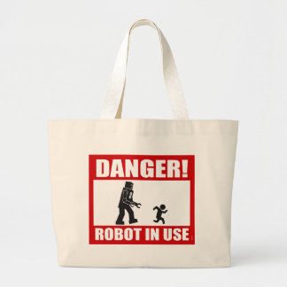Danger! Robot in Use Tote Bag