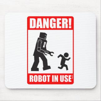 Danger ! Robot Mousepad en service Tapis De Souris