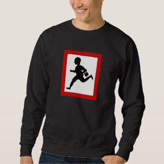 Danger Running Children, Traffic Sign, India Sweatshirt